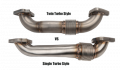 "Exhaust Systems and Parts - Down Pipes - Wherli Fab - 2001-2016 DURAMAX 2"" STAINLESS SINGLE TURBO UP PIPE KIT FOR OEM MANIFOLDS W/ GASKETS WCF100590"